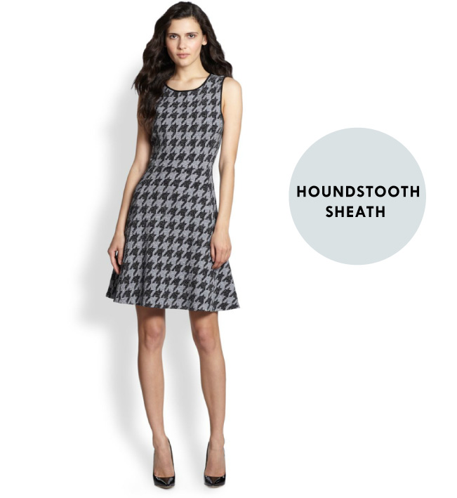 Fab From The Lab - Theory Houndstooth Dress