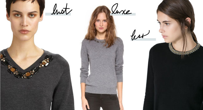 Lust. Luxe. Less. // Sweater Bling