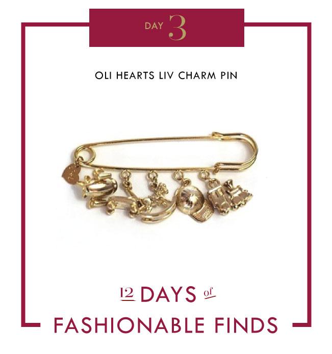 OLI HEARTS LIV CHARM PIN ALLISON LAUREN BRACELET KENDRA SCOTT NECKLACE // 12 Days of Fashionable Finds