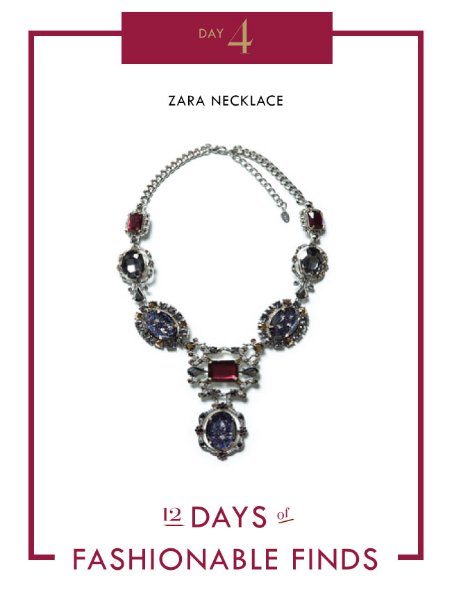 Zara Necklace // OLI HEARTS LIV CHARM PIN ALLISON LAUREN BRACELET KENDRA SCOTT NECKLACE // 12 Days of Fashionable Finds