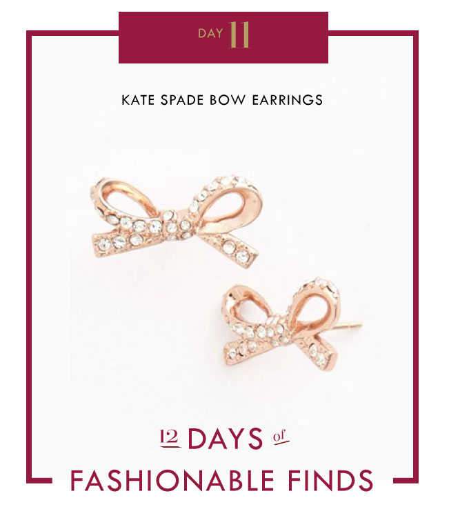 Day 11 - Kate Spade Bow Earrings // Mom Style Lab