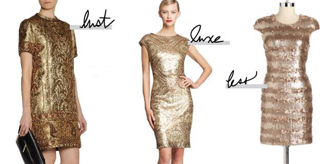 LLL // Gold Dress