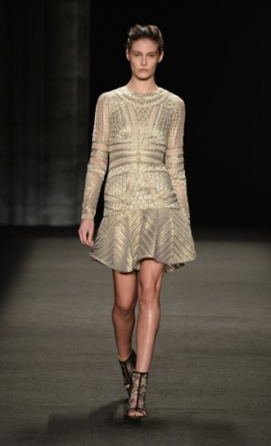 monique lhullier fall 2014 short dress