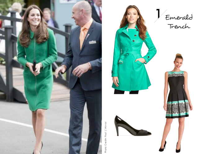 Kate Middleton Inspired Looks / The Emerald Trench