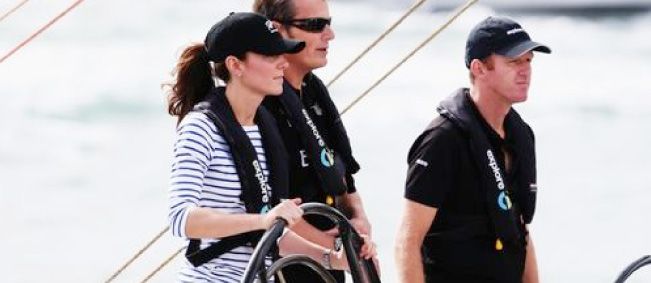 Kate Middleton Sailing