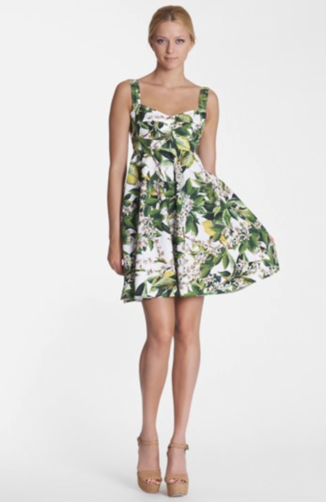 dolce and gabbana lemon dress