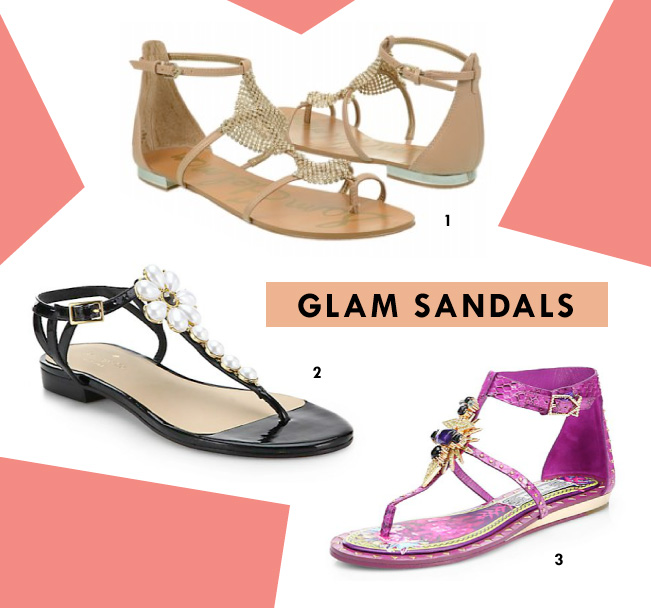 Spring Shoe Trends - Glam Sandals