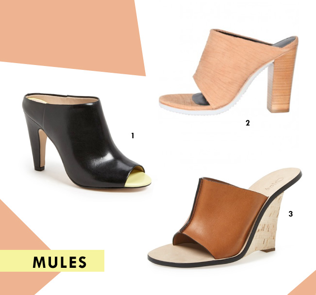 Spring Shoe Trends - Mules