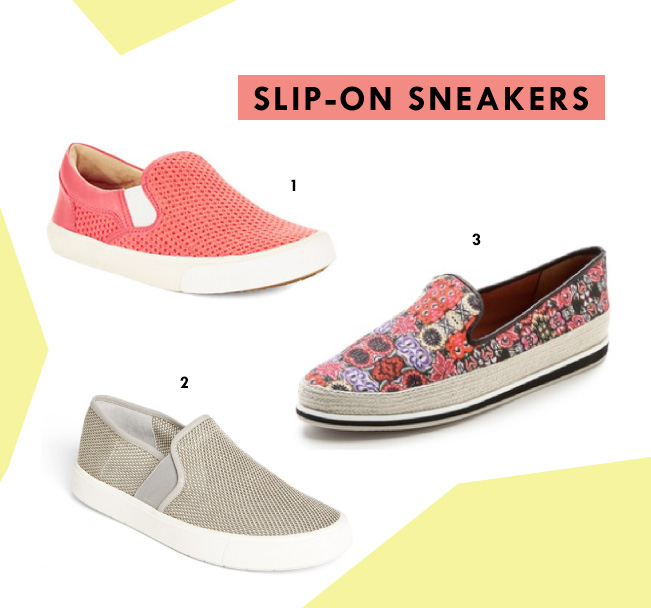 Spring Shoe Trends - Slip on Sneakers