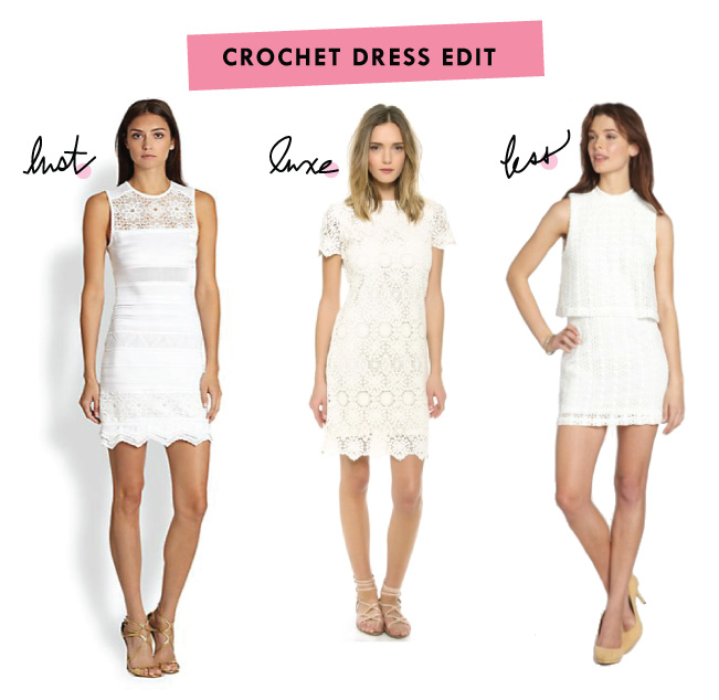 Lust Luxe Less - Crochet Dress Edit