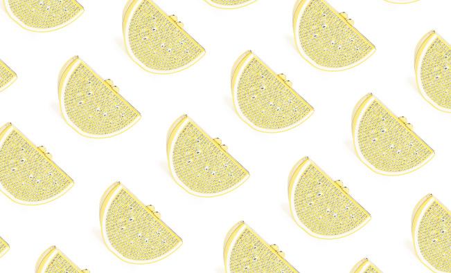 Lemons - Kate Spade Clutch