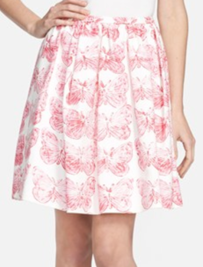 RED Valentino Butterfly Skirt