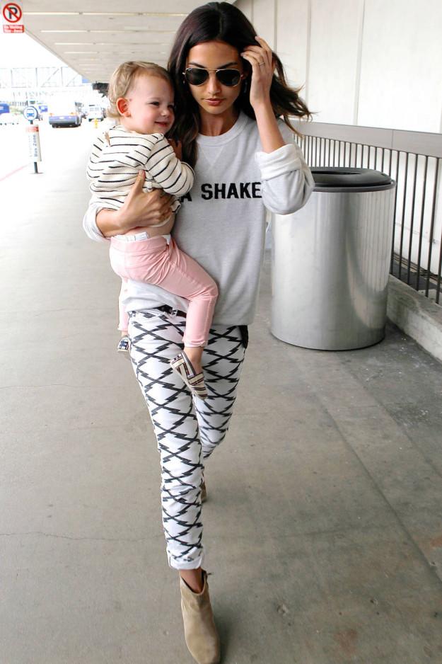 celeb style crush lily aldridge mom style lab