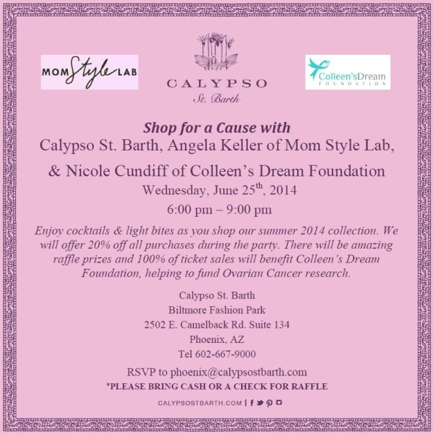 Calypso St Barth shop for Colleen's Dream Foundation