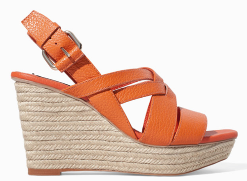 Zara orange wedges