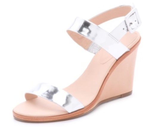 Kate Spade silver wedges