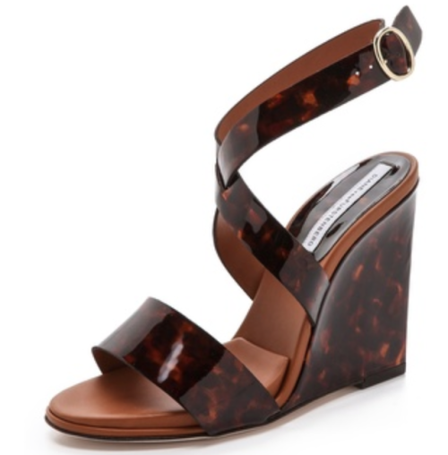 DVF tortoise wedges
