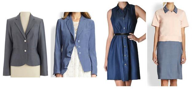 chambray blazers dresses_0