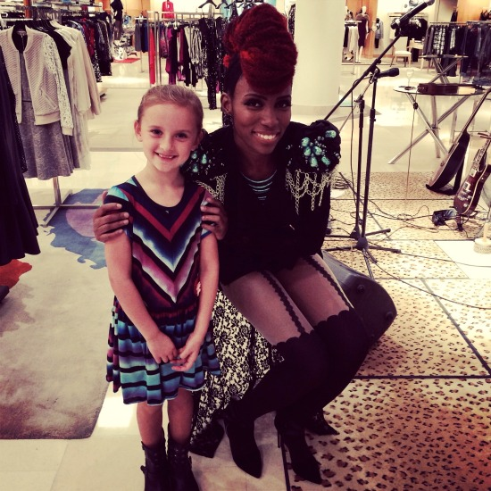 Christina with Nik West at Neiman Marcus