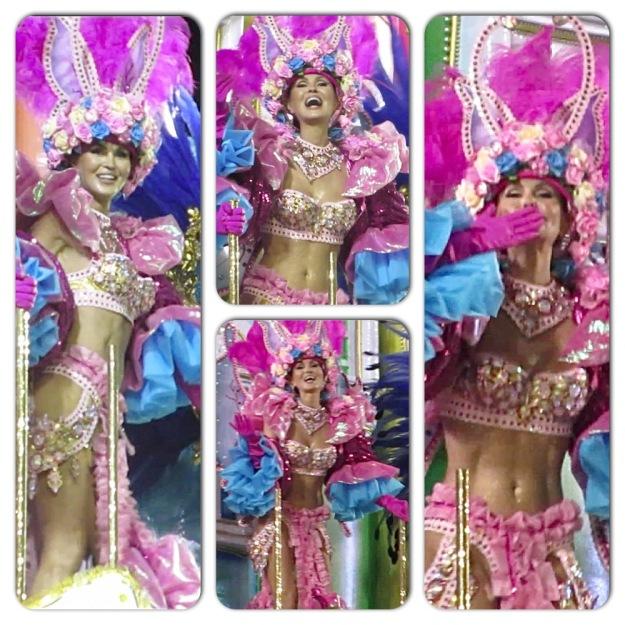 Carnaval : on a Float at Samba parade Rio 2014