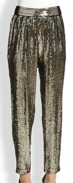 Alice+Olivia sequined trousers Saks Fifth Avenue