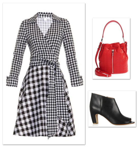 gingham DVF wrap dress_0