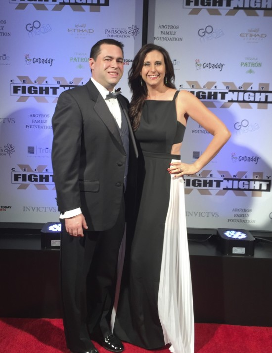 Michelle and Dan Glicksman at Celebrity Fight Night