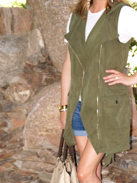 army-green-joie-camo-sneakers-topshop-vest-hermes-jewelry-escada-handbag-tom-ford-shades-vince-tee