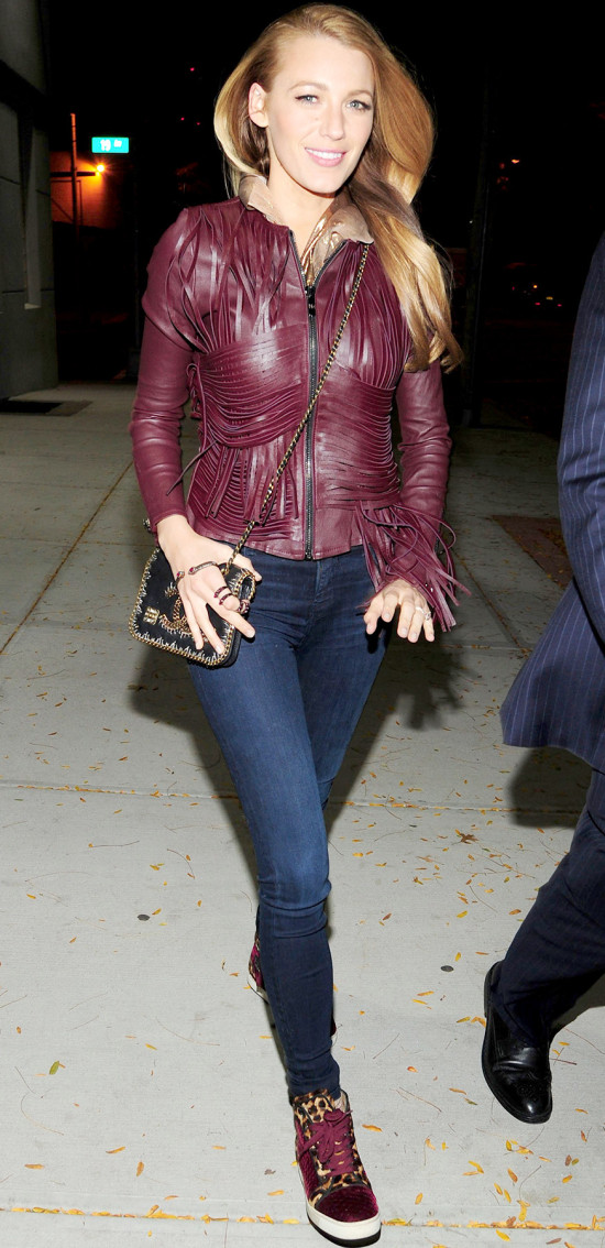 blake-lively-new-york-street-style-wine-fringe-jacket